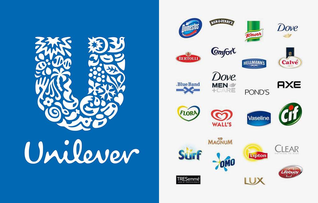 Unilever brand logos
