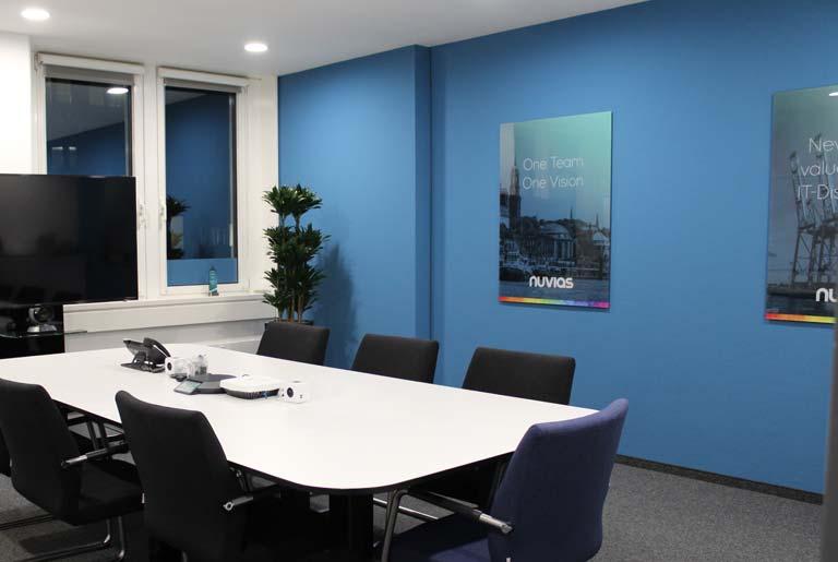 Nuvias meeting room branding