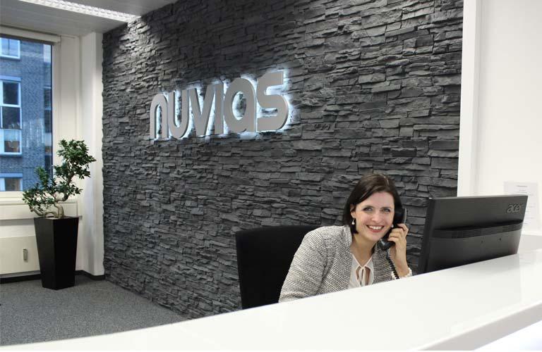 Nuvias reception branding