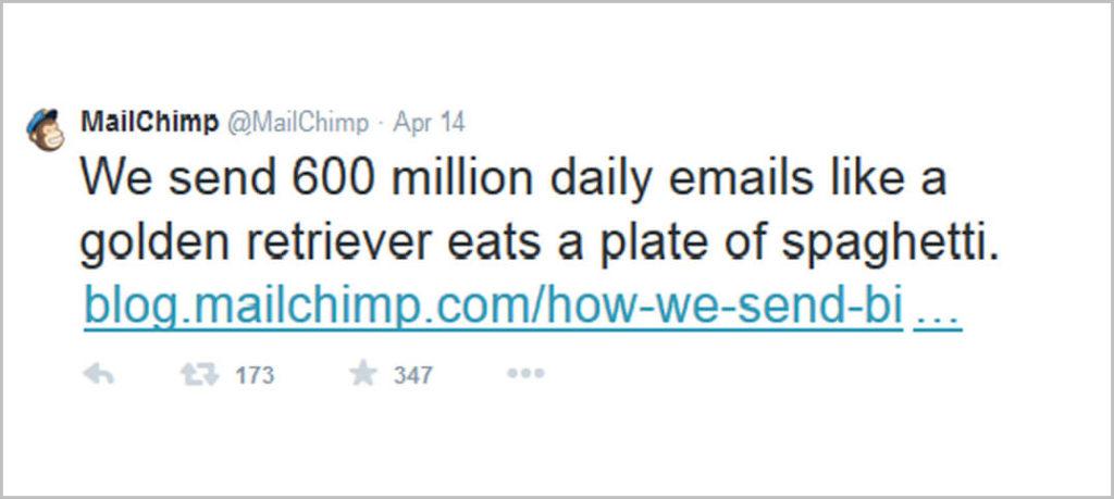 Mailchimp tweet