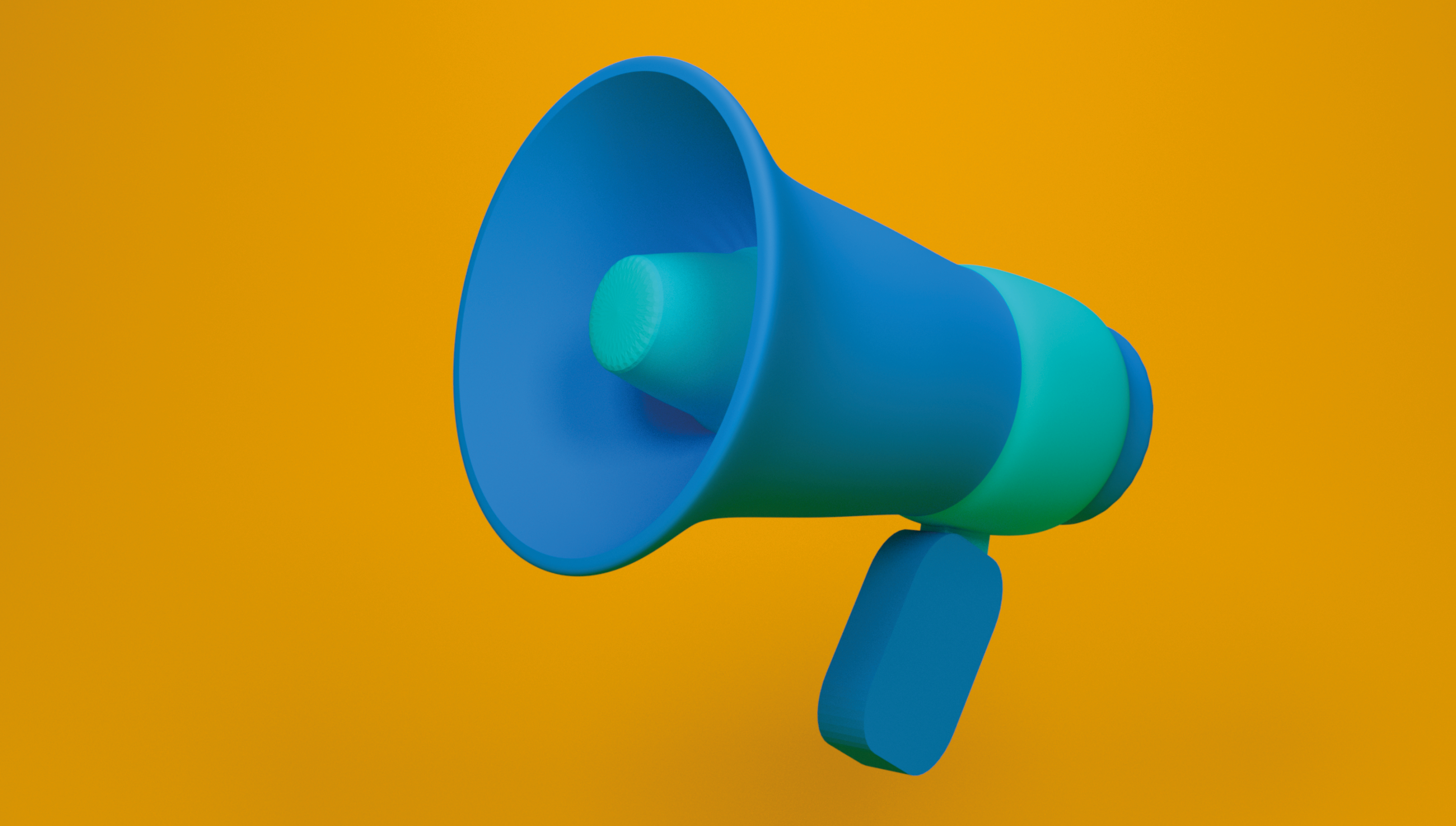 Business brand megaphone
