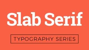 Slab-serif font