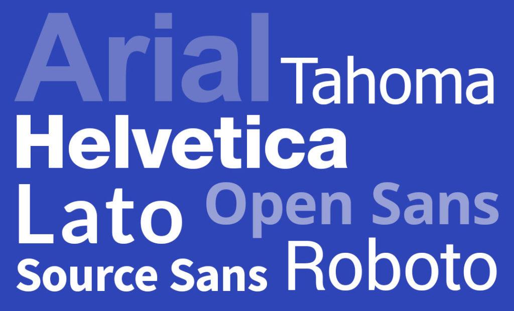 Sans Serif font examples