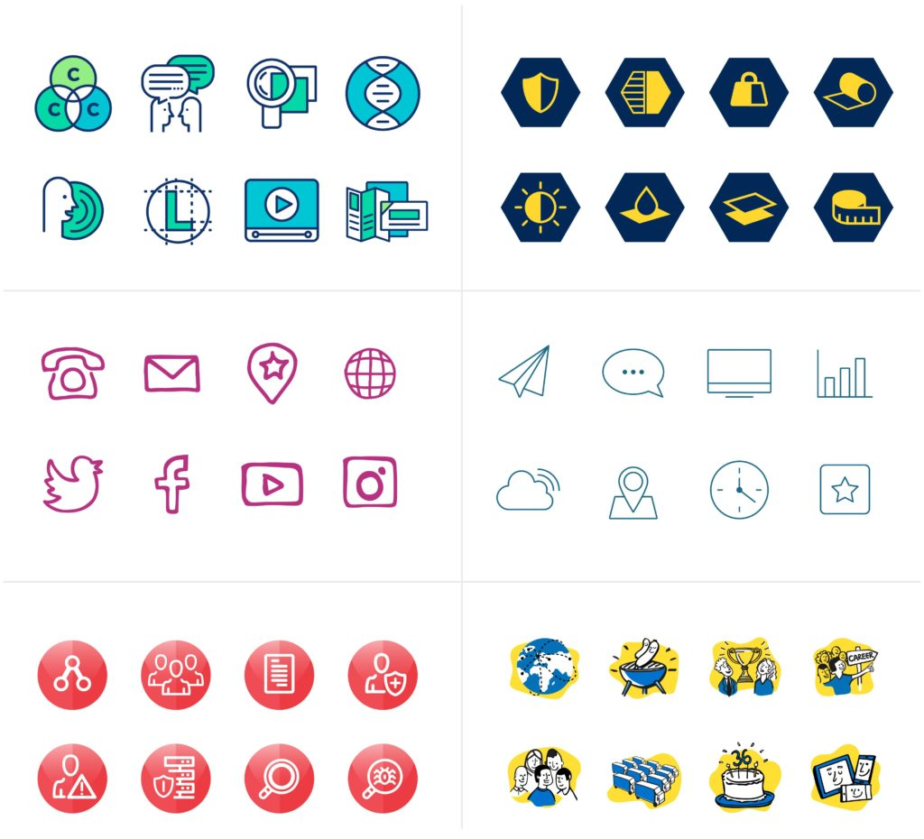 Selection of custom icons