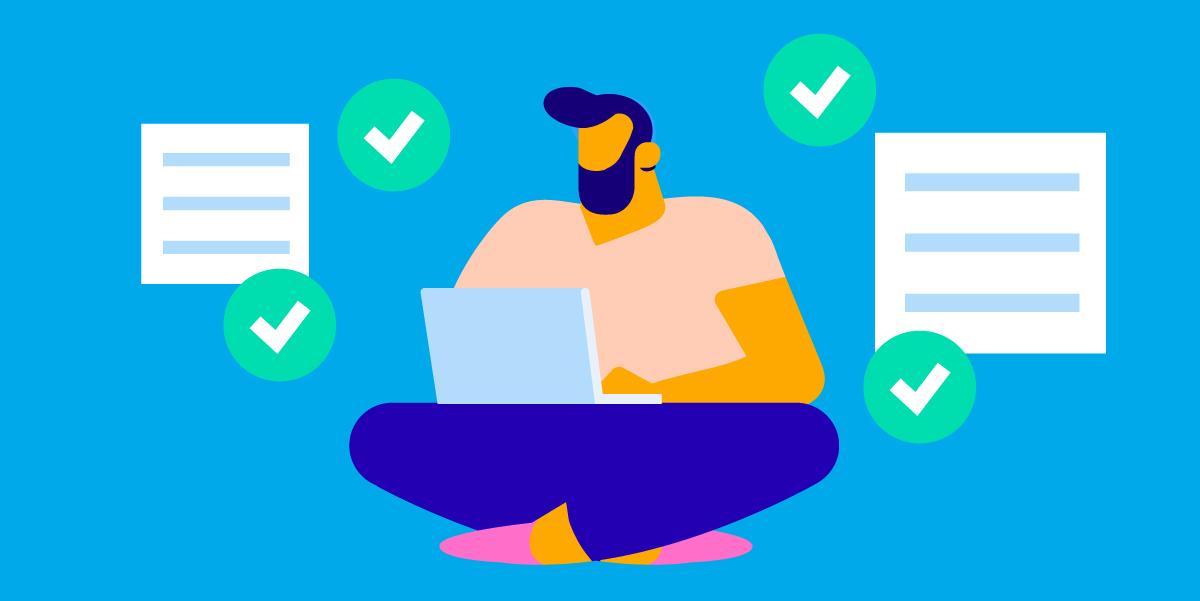 checking email illustration