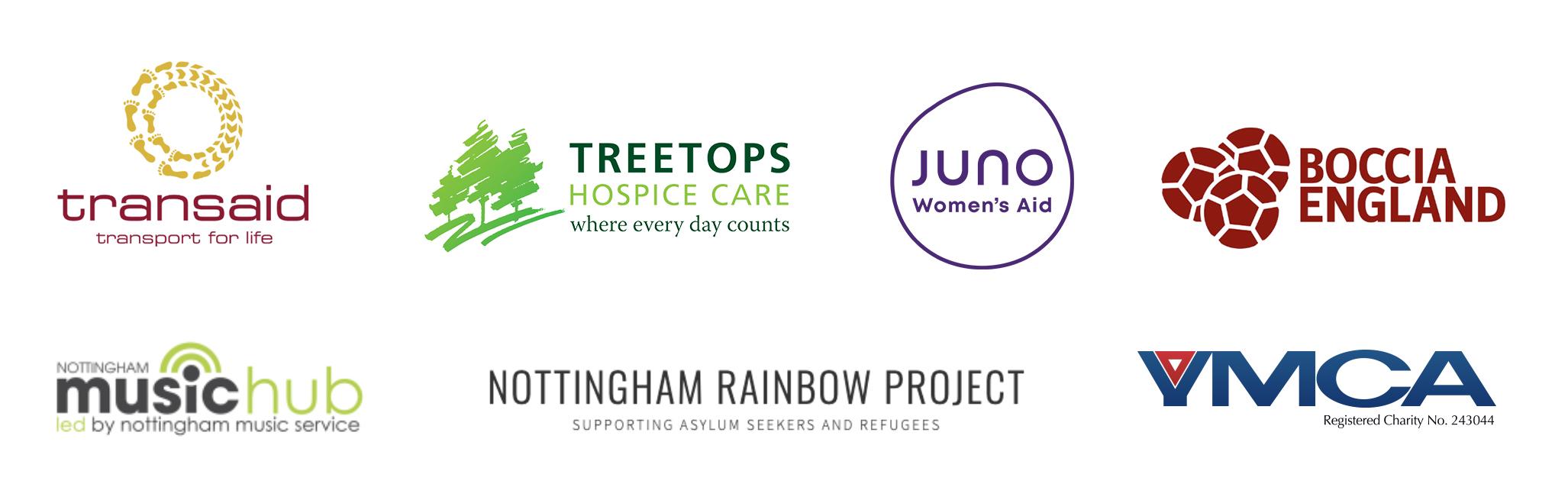 Charity branding logos